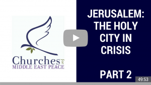Join CMEP's Executive Director Rev. Dr. Mae Elise Cannon as she interviews three special guests throughout February about the numerous issues related to President Trump's decision to recognize Jerusalem as Israel's capital.